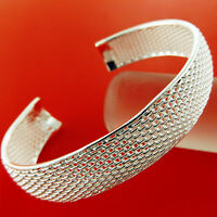 Bangle Bracelet REAL 925 Sterling Silver S/F Solid Ladies Antique Cuff Design