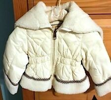 Nwt New Ugg Australia Cream Hooded Hoodie Down Jacket Size 9 Months Msrp $155