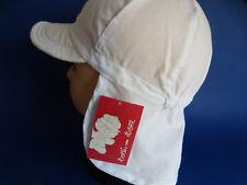 Dolli KU 53 54 55 56 57 Nackenschutz Sonne Kappe Hut Kinder Mädchen Jungen weiß