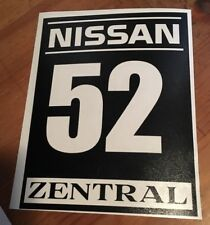 Single Color Customized Track Numbers Vinyl Decal Sticker Autocross Race