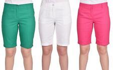 Womens Shorts Linen Cotton ladies Summer Beach Casual Pants Bottoms Size 8 10 12