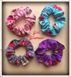 Unicorn Hair Scrunchies Bow Headband Tie Band Dress Party Bag Fabric Hairband A