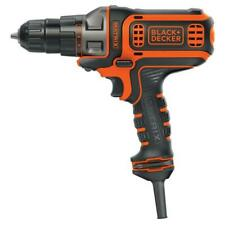Black+Decker 3/8 in. Keyless Chuck Drill Driver Electric 4A Corded Drilling Tool