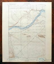 1916 Coyote Rapids Washington Antique USGS Topo Map Wahluke Hanford Reach NM