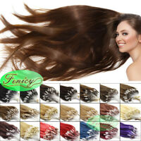 100-200 EXTENSIONS CHEVEUX POSE A FROID NATURELS REMY LOOPS Micro-Anneaux Links