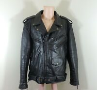 Jamin Leather Black Leather Motorcycle Biker Jacket Men's Size 52 Thinsulate