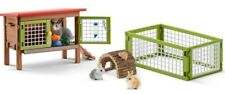 NEW Schleich Rabbit Hutch + 3 Rabbits Fence Food Bottle for Farm World -NEW 2018