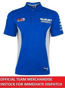 Suzuki Ecstar MotoGP GSX-RR Official Team Polo Shirt Genuine Rins Mir GSXR - NEW