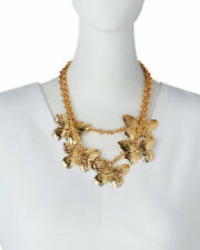 """Kenneth Jay Lane KJL Butterfly 2-Layer 22K Gold Plated 17"""" Necklace  - NWT"""