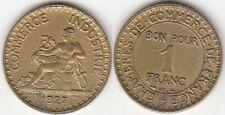 Monnaie Française 1 franc Chambre de commerce 1927