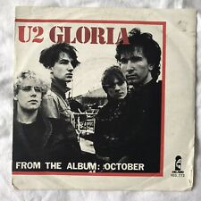 "U2 GLORIA 1981 BENELUX DUTCH 7"" INCH SINGLE WITH UNIQUE SLEEVE VERY RARE"