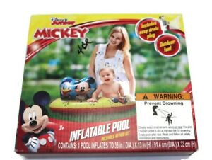 """DISNEY JUNIOR - Mickey Mouse Inflatable Baby Toddler Kid Child Pool 36"""""""