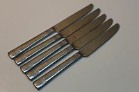 5 Reed & Barton Evergreen Pattern Stainless Steel Flatware Dinner Knives