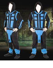 New Large SUB-ZERO - MORTAL KOMBAT Arcade Video Game ONSIE Union Suit Pajamas PJ