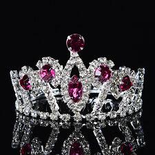 Dazzling Rhinestone Flower Girl Tiara Kids Princess Crown Girls Hair Accessories