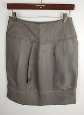 COUNTRY ROAD Skirt Sz 6 Work Corporate Business Taupe Linen/Silk Pencil Straight