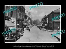 OLD LARGE HISTORIC PHOTO OF AMHERSTBURG ONTARIO CANADA, DALHOUSIE ST c1940