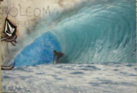 VOLCOM surf skateboard 2008 Bruce Irons promo poster Flawless New old stock