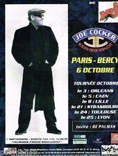 Publicité advertising 1997 Concert Joe Cocker Paris Bercy