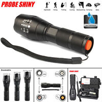 5000LM Zoomable CREE XM-L T6 LED waterproof 18650 Flashlight Torch Lamp Light