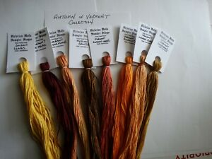 Autumn in Vermont Collection over dyed floss, 8 skeins, 20 yards each