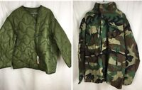 Cold-Weather Field Coat Woodland Camo W New Removable Liner L Reg US issue