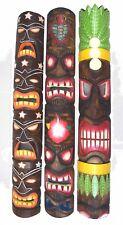 Tiki masques dans le lot de 3 3 muraux hawaii Mural EN BOIS SALON