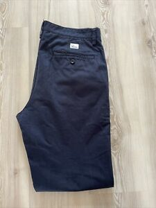 Fred Perry Chino Trousers W32 Regular Leg L32 Navy Blue