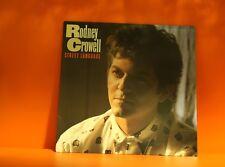 RODNEY COWELL - STREET LANGUAGE - COLUMBIA 1986 EX VINYL LP RECORD