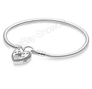PANDORA Disney Parks Fantasyland Castle Heart Bracelet 7.1 New