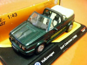 New Ray  Green and Cream Volkswagen Golf Cabriolet 1988 - 48509 Never Opened