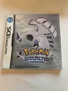 Pokémon SoulSilver Nintendo DS Manual Only Original Authentic VG Condition