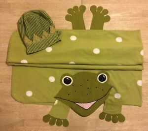 IKEA Green Frog Blanket Wrap Fabler Groda Costume W/ Fleece Prince Hat