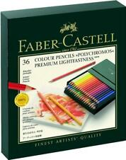 FABER-CASTELL - 36 COLOUR PENCILS - POLYCHROMOS - SUPPLIED IN A GIFT BOX