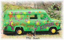 BUSCH HO  7702 - Miniatur-Diorama Mini-Welt: Wilde Camper | Spur H0 im 1:43