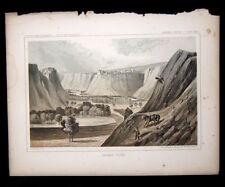 USPRR HANDCOLORED LITHOGRAPH MARIAS RIVER MONTANA Railroad Survey John M.Stanley