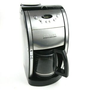 Cuisinart 10 Cup DCC 490PC Automatic Grind and Brew Coffee Maker Black Steel