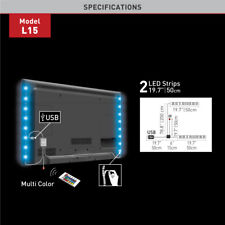 LED Back Light Kit 32-80in TV USB Backlight Moodlight HDTV Colored with Remote!