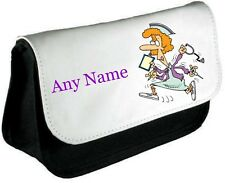 Personalised Funny NURSE Pencil Case/Make Up Bag *Choice of text colour*