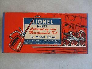 VINTAGE LIONEL NO. 927 LUBRICATING MAINTENANCE IN ORIGINAL BOX MODEL TRAIN KIT