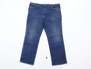 Vintage 90s Lee Mens 42x28 Streetwear Straight Leg Distressed Denim Jeans Blue