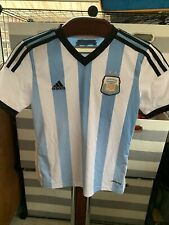 Lionel Messi Argentina Adidas Climacool Soccer Jersey Sz Youth Medium Euc