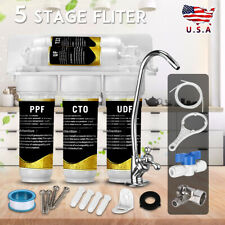 Home Drinking Water Purifier Filter Ultra-filtration Hollow Fiber System 5 Stage