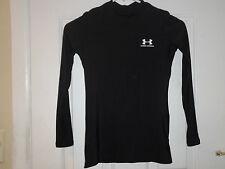 Boys Under Armour Black Long Sleeve Shirt Sz Large - LN