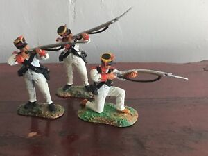 3 Alamo Mexicans, War of Texas independence.. Conte plastic toy Soldiers 60 mmn