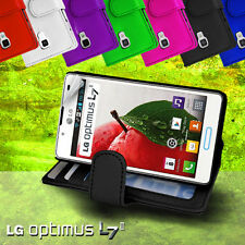 Photo ID Wallet Flip Leather Case Cover for LG Optimus L7 II P713 L7 2 + SP