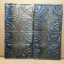 """2pc Lot of 24"""" by 12"""" Antique Ceiling Tin Vintage Reclaimed Salvage Art Craft"""