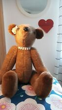 Rare Vintage Teddy Bear hand made by Neysa A. Phillippi Jointed female 40 years