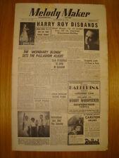 MELODY MAKER 1948 SEP 18 HARRY ROY DINAH SHORE JAZZ