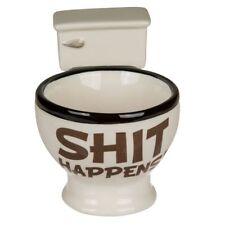 Tasse Toilette Keramik Becher Klo Kackhaufen Scheiße Shit happens Kaffeetasse